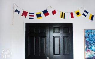 diy nautical flag banner, crafts, how to, wall decor