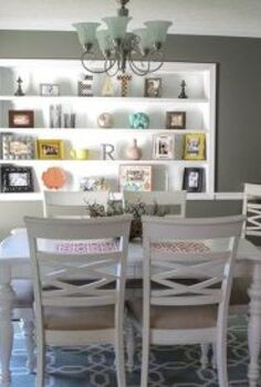complete dining room makeover, dining room ideas, paint colors, shelving ideas, wall decor