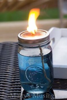diy mason jar citronella candles chase mosquitoes away and look great, how to, mason jars, outdoor living, repurposing upcycling
