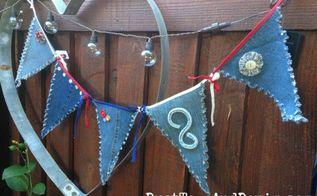 patriotic recycled denim blue jean pennants, crafts, how to, patriotic decor ideas, repurposing upcycling, seasonal holiday decor