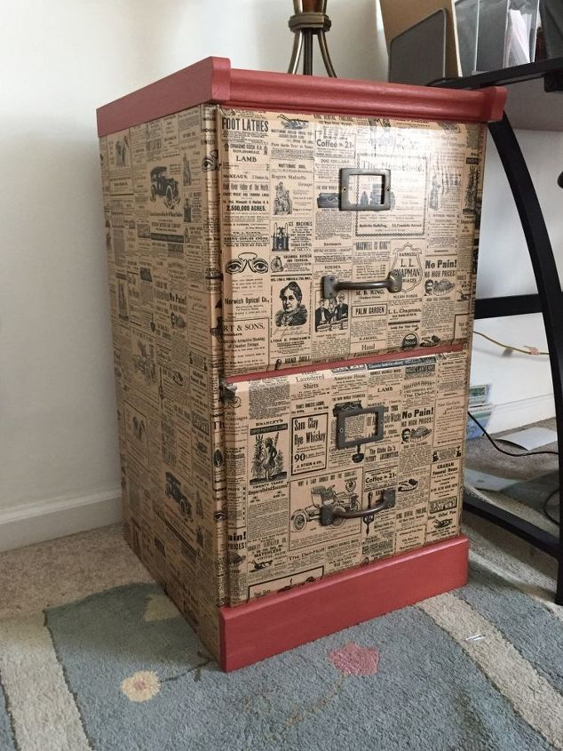 File Cabinet Upcycle With Wrapping Paper Hometalk