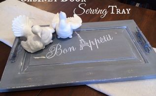 repurposed old cabiner door to serving tray, doors, how to, repurposing upcycling