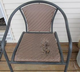 There Is A Big Hole In This Deck Chair. I Need Some Ideas On How To Repair  It And What Kind Of Material I Could Use. Its Plastic Webbing.