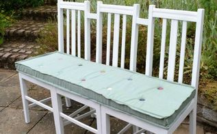 upcycled hallway garden bench, foyer, outdoor furniture, painted furniture, repurposing upcycling
