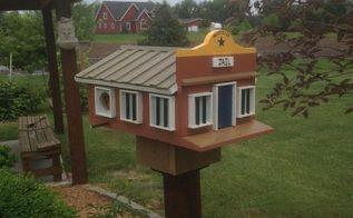 diy bird village, outdoor living, pets animals, woodworking projects