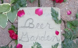 beer garden concrete sign, concrete masonry, crafts, gardening, how to