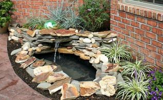 instead of planting flowers these homeowners did something brilliant, gardening, landscape, outdoor living, ponds water features, Project via Susan Oh My Creative