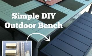 simple diy outdoor bench from recycled wood, diy, how to, outdoor furniture, painted furniture, repurposing upcycling, woodworking projects