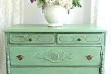 rustic green dresser, painted furniture, repurposing upcycling, rustic furniture