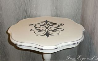 how to use a stencil table makeover, how to, painted furniture