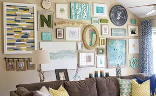massive gallery wall, crafts, living room ideas, repurposing upcycling, wall decor