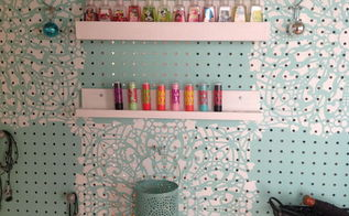 creating custom shelves for your pegboard organizer, how to, organizing, shelving ideas, woodworking projects