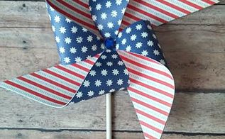patriotic pinwheels, crafts, how to, patriotic decor ideas, seasonal holiday decor