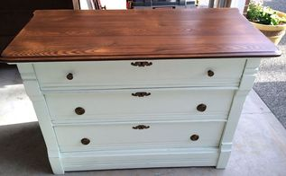 20 garage sale dresser makeover, painted furniture, repurposing upcycling