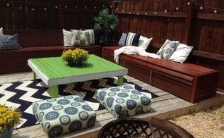 diy budget backyard and deck makeover, concrete masonry, decks, fences, gardening, outdoor furniture, outdoor living