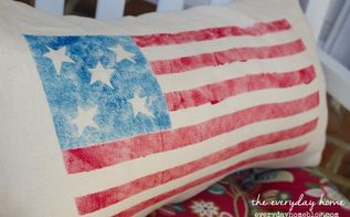 diy flag design outdoor pillow, crafts, how to, outdoor living, patriotic decor ideas, seasonal holiday decor, reupholster
