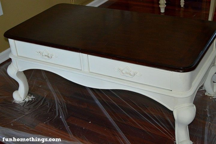 French Country Coffee Table Makeover Chalk Paint Painted Furniture