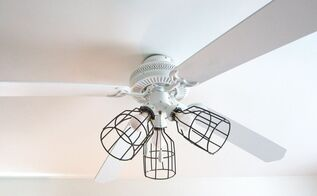 upgraded ceiling fan light covers, lighting, repurposing upcycling