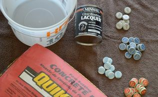 easy bottlecap concrete trivet for father s day, concrete masonry, crafts, how to, outdoor living, seasonal holiday decor