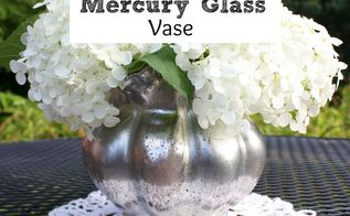 diy faux mercury glass vase, crafts, how to, repurposing upcycling