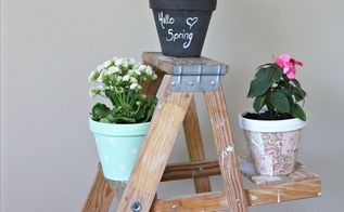 pretty little diy flower pots, chalkboard paint, container gardening, crafts, flowers, gardening