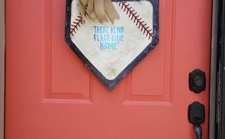 baseball door hanging a last minute father s day gift, crafts, doors, how to, repurposing upcycling, seasonal holiday decor