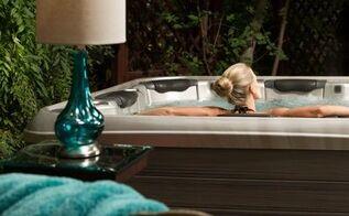 easy backyard upgrades with a portable spa, outdoor living, spas