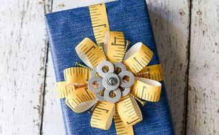 father s day gift wrap bow from the hardware store, crafts, how to, repurposing upcycling, seasonal holiday decor
