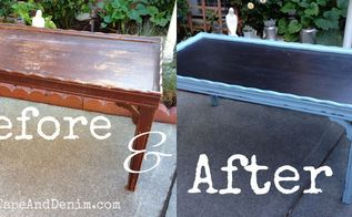 thrift store makeover chalkboard top coffee table, chalkboard paint, painted furniture, repurposing upcycling