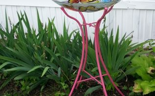 bird bath revamp, outdoor living, pets animals