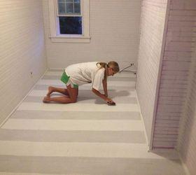 Painted Floor Diy Striped Painted Floor | Hometalk