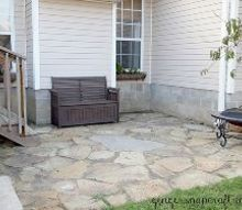 create a rock patio in your yard, concrete masonry, diy, gardening, how to, outdoor living, patio