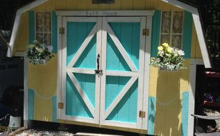 painted wood shed, outdoor living, painting, My little cottage cabana