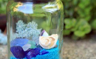 beachy mason jar solar lights, how to, lighting, mason jars, outdoor living, repurposing upcycling