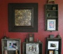 repurposed old drawers to wall decor boxes, chalkboard paint, repurposing upcycling, wall decor