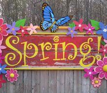 my spring garden sign, crafts