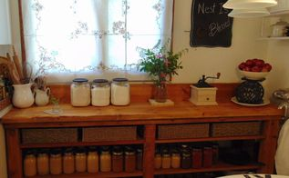 a gorgeous reclaimed lumber counter, countertops, diy, repurposing upcycling, woodworking projects