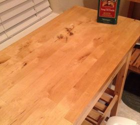 How doremove a stain from wood counter top  Hometalk