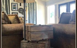build your own stacked crate end table, diy, how to, painted furniture, woodworking projects