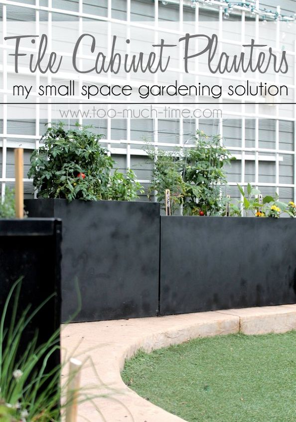 Upcycled File Cabinet Planters Hometalk