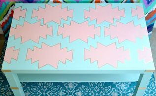 ikea coffee table makeover, painted furniture
