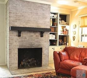 Brick Fireplace Makeover With Fusion Mineral Paint, Fireplaces Mantels,  Painting