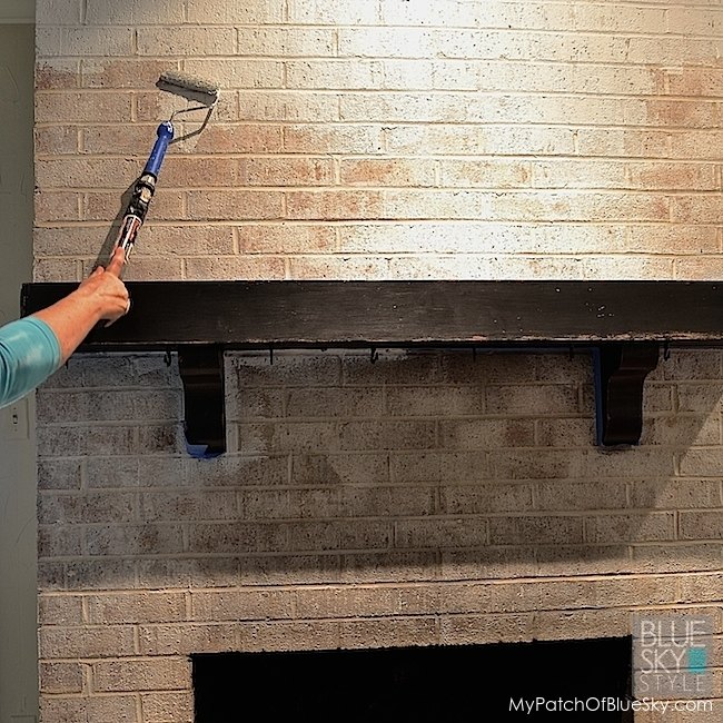 Brick Fireplace Makeover With Fusion Mineral Paint Hometalk - Brick fireplace makeover