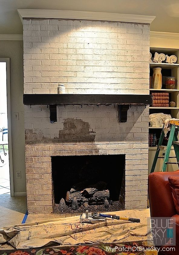Fireplace Design remodel brick fireplace : Brick Fireplace Makeover with Fusion Mineral Paint | Hometalk