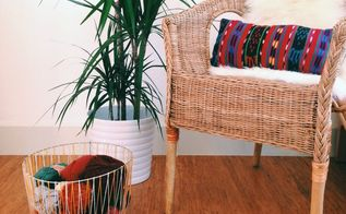 diy woven basket from a tomato cage, crafts, diy, home decor, Ta dah