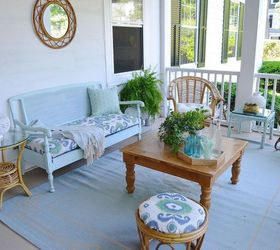 Nice Porch Makeover On A Budget, Outdoor Furniture, Outdoor Living, Painted  Furniture, Porches
