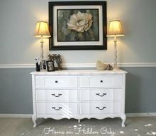 french provincial chalk paint dresser, chalk paint, painted furniture