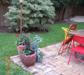 From A Tired Ole Looking Yard Island To A Patio, Concrete Masonry,  Gardening,