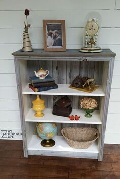 ikea billy bookcase makeover, fences, how to, painted furniture, repurposing upcycling