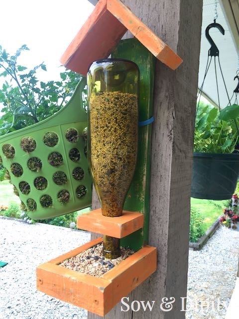 Diy bird feeder made from pallet wood hometalk for How to build a bird feeder easy